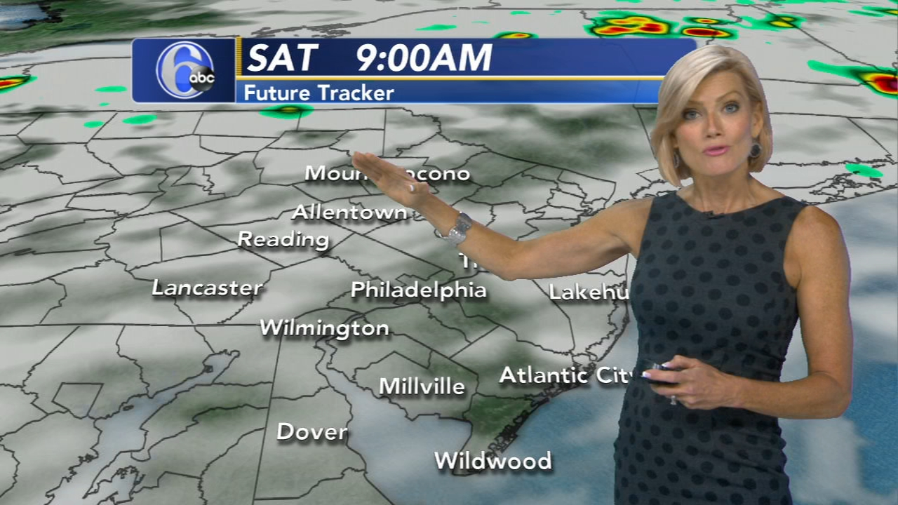 Cecily Tynan reports on AccuWeather during Action News at 6 p.m. on August 17, 2018.