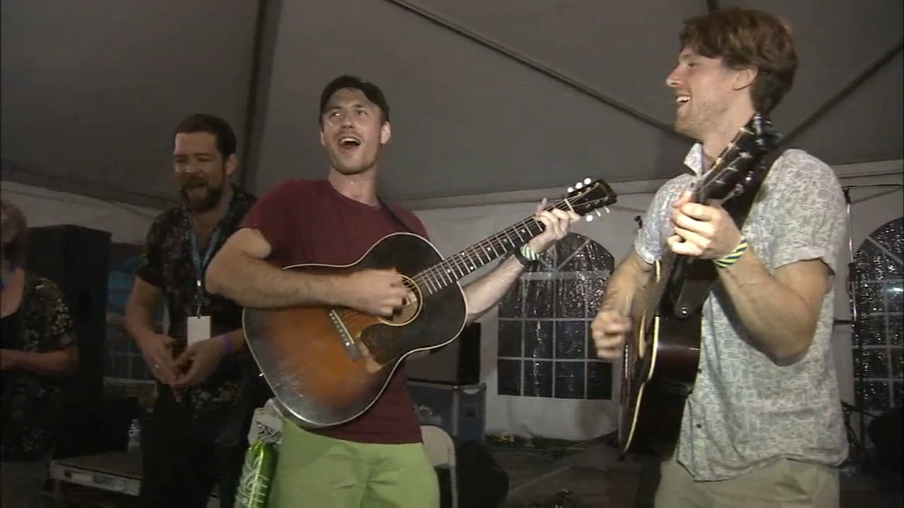 Fans brave the storm at the Philly Folk Fest. Jeff Chirico reports during Action News at 10 p.m. on August 17, 2018.