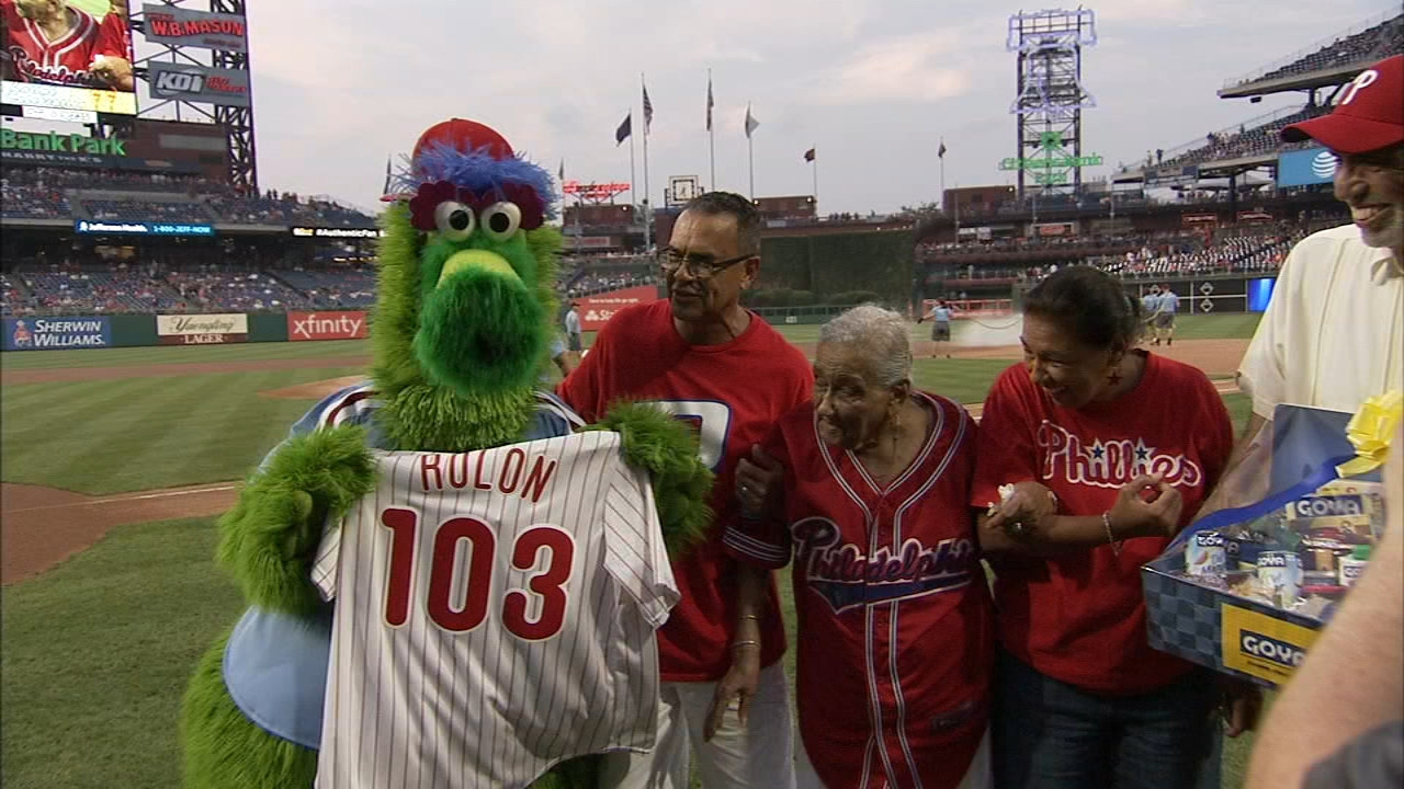 Phillies honor 103-year-old fan. Matt ODonnell reports during Action News Mornings on August 17, 2018.