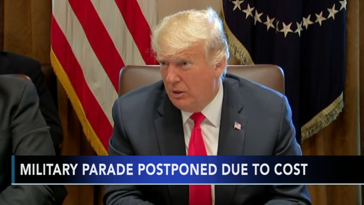 President Trump announces military parade is postponed due to cost - Rick Williams reports during Action News at noon on August 17, 2018.