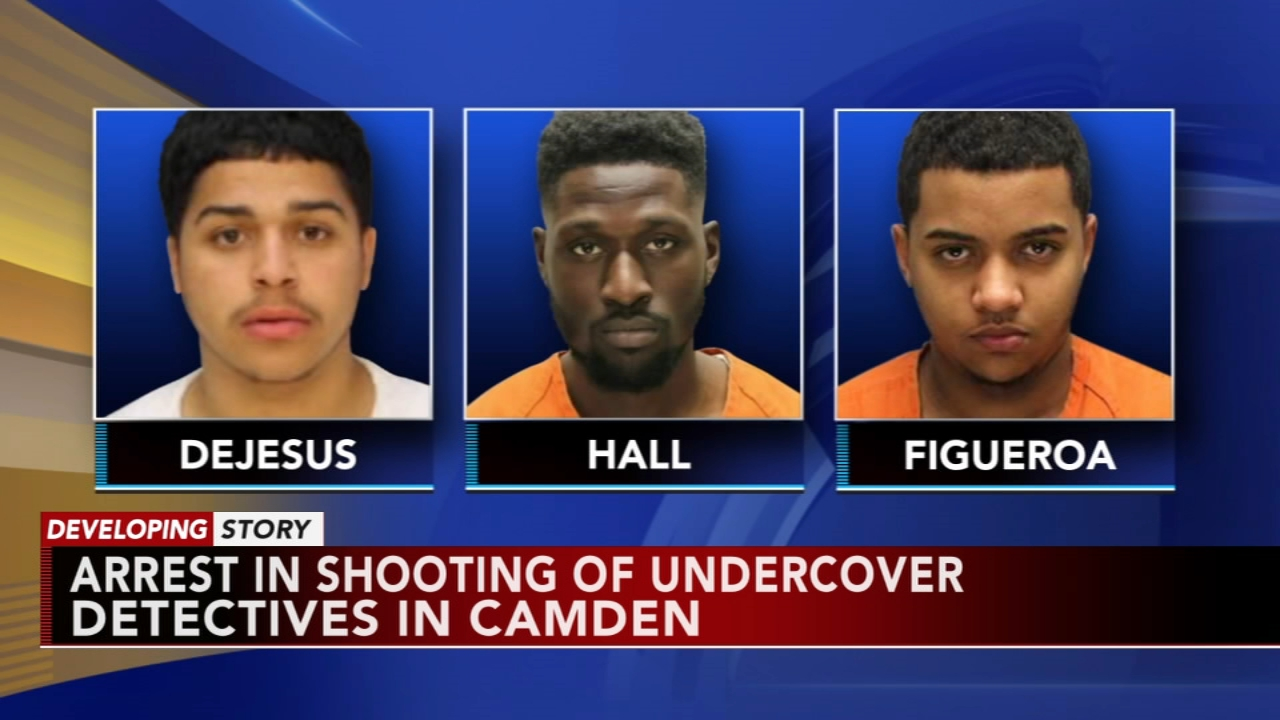 1 man captured in shooting of detectives in Camden; 2 at large. Walter Perez reports during Action News at 10 p.m. on August 18, 2018.