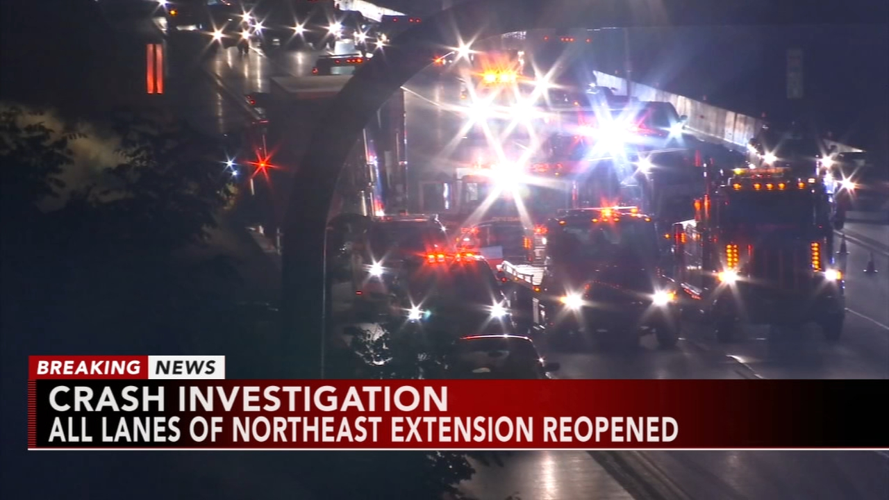 Northbound lanes of Northeast extension reopen following accident. Gray Hall reports during Action News at 9 a.m. on August 18, 2018.