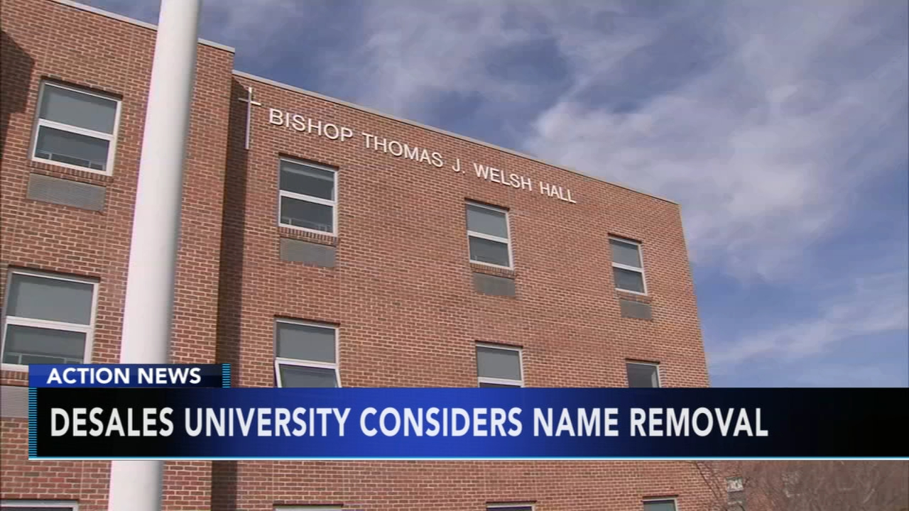 DeSales University considers name removal of two bishops. Walter Perez reports during Action News at 5:30 p.m. on August 18, 2018.