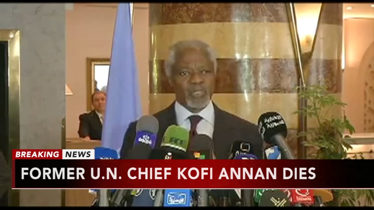 Former UN Secretary-General Kofi Annan dies at age 80. Gray Hall reports during Action News at 6 a.m. on August 18, 2018.