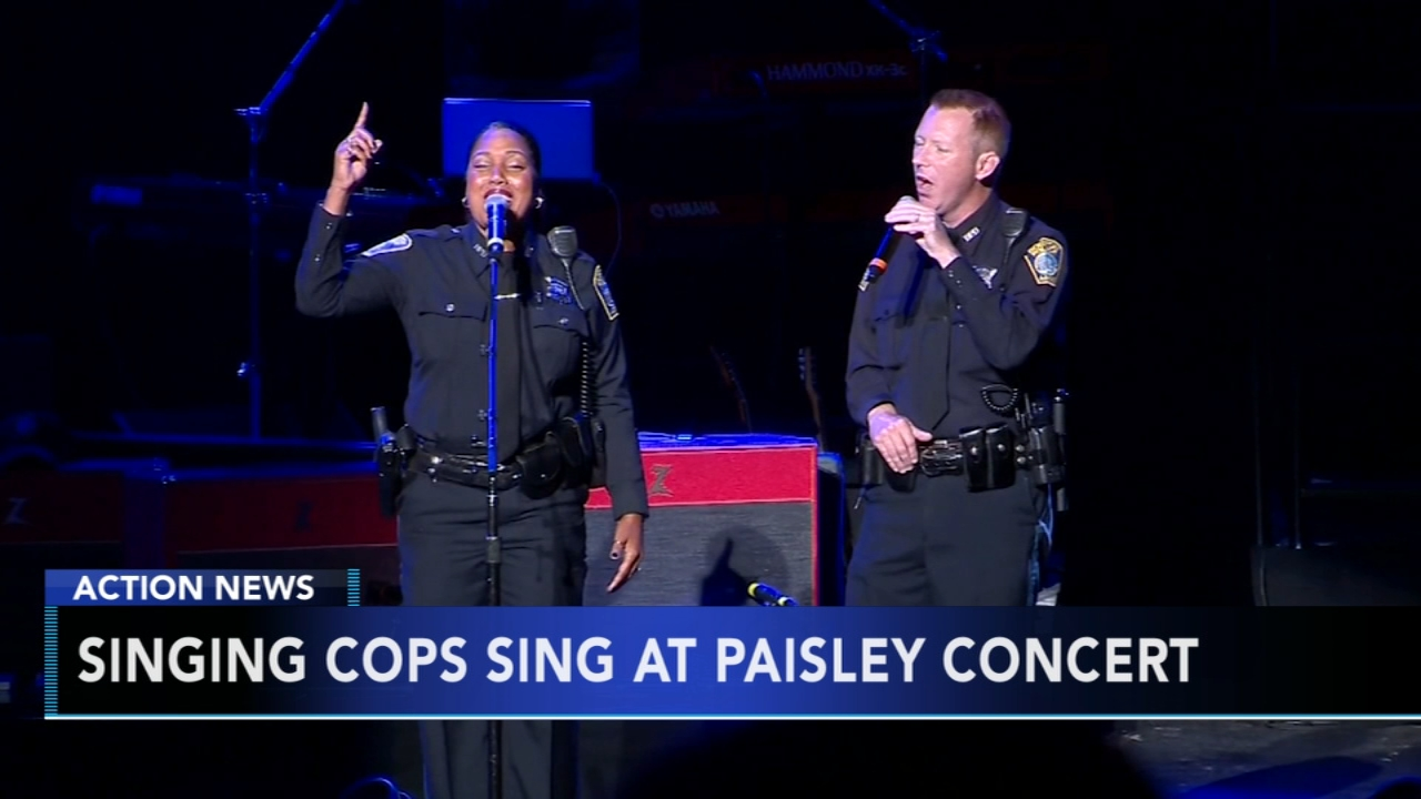 Singing cops take the stage at Brad Paisley concert in Massachusetts. Gray Hall reports during Action News at 7 a.m. on August 19, 2018.