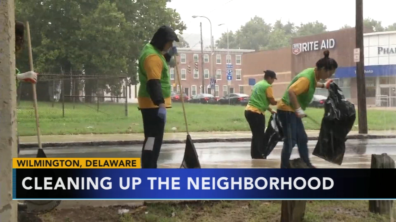 Church members work to clean up Wilmington neighborhood. Gray Hall reports during Action News at noon on August 19, 2018.