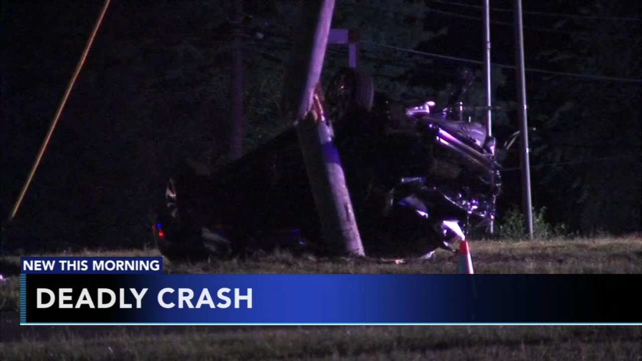 Driver killed after hitting utility pole, overturning in Mount Laurel. Gray Hall reports during Action News at 6 a.m. on August 19, 2018.