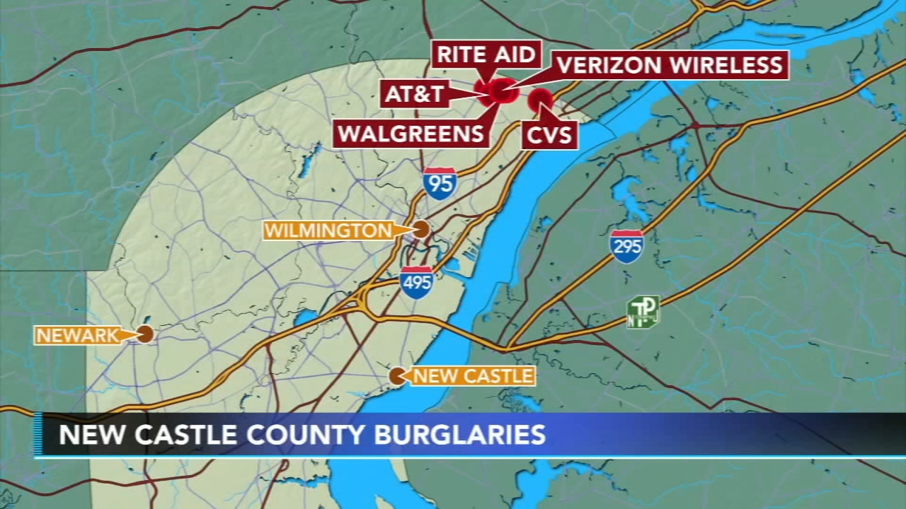 Police investigate rash of burglaries in New Castle County: as seen on Action News at 10 p.m., August 19, 2018