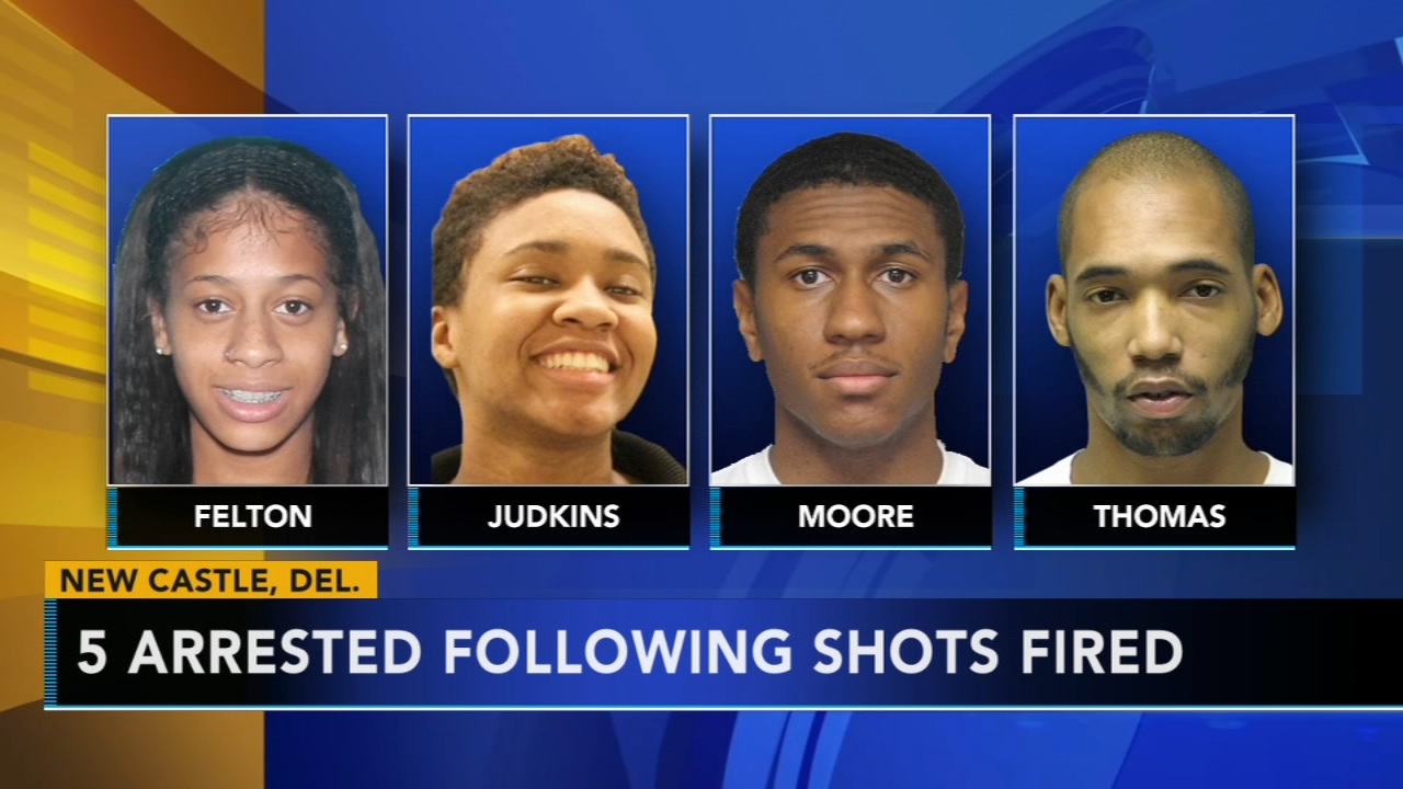 5 arrested following shots fired in New Castle: as seen on Action News at 5 p.m., August 19, 2018