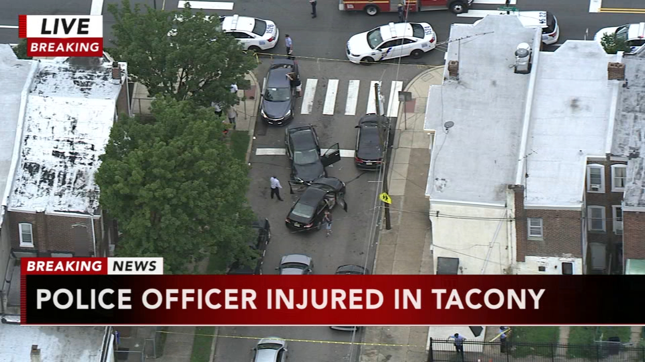 Police officer injured in Tacony, as seen on Action News at 4 p.m., August 20, 2018