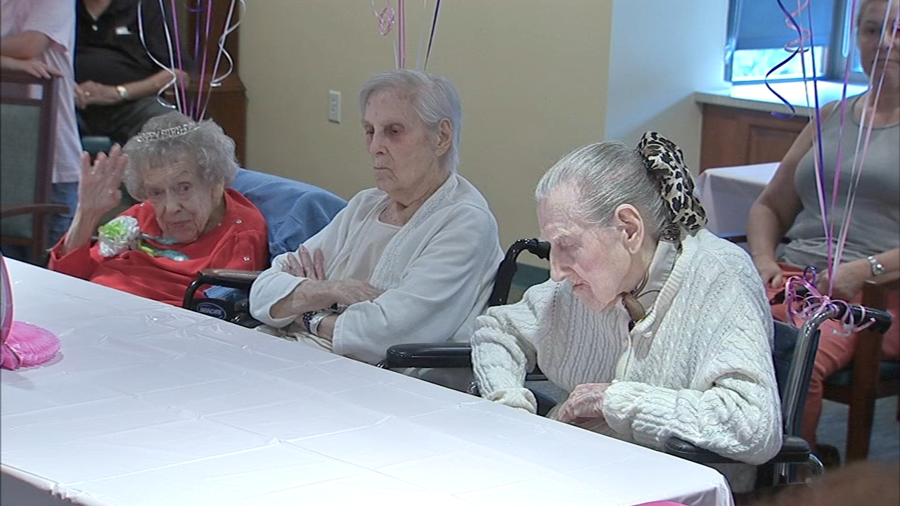 3 women in Broomall celebrate 315 years of life. Brian Taff reports during Action News at 4:30 p.m. on August 21, 2018.