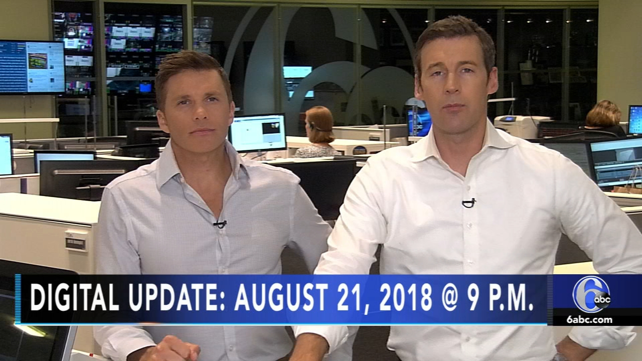 Brian Taff reports, and meteorologist Adam Joseph has the latest from AccuWeather, during the Action News Update at 9 p.m. on August 21, 2018.
