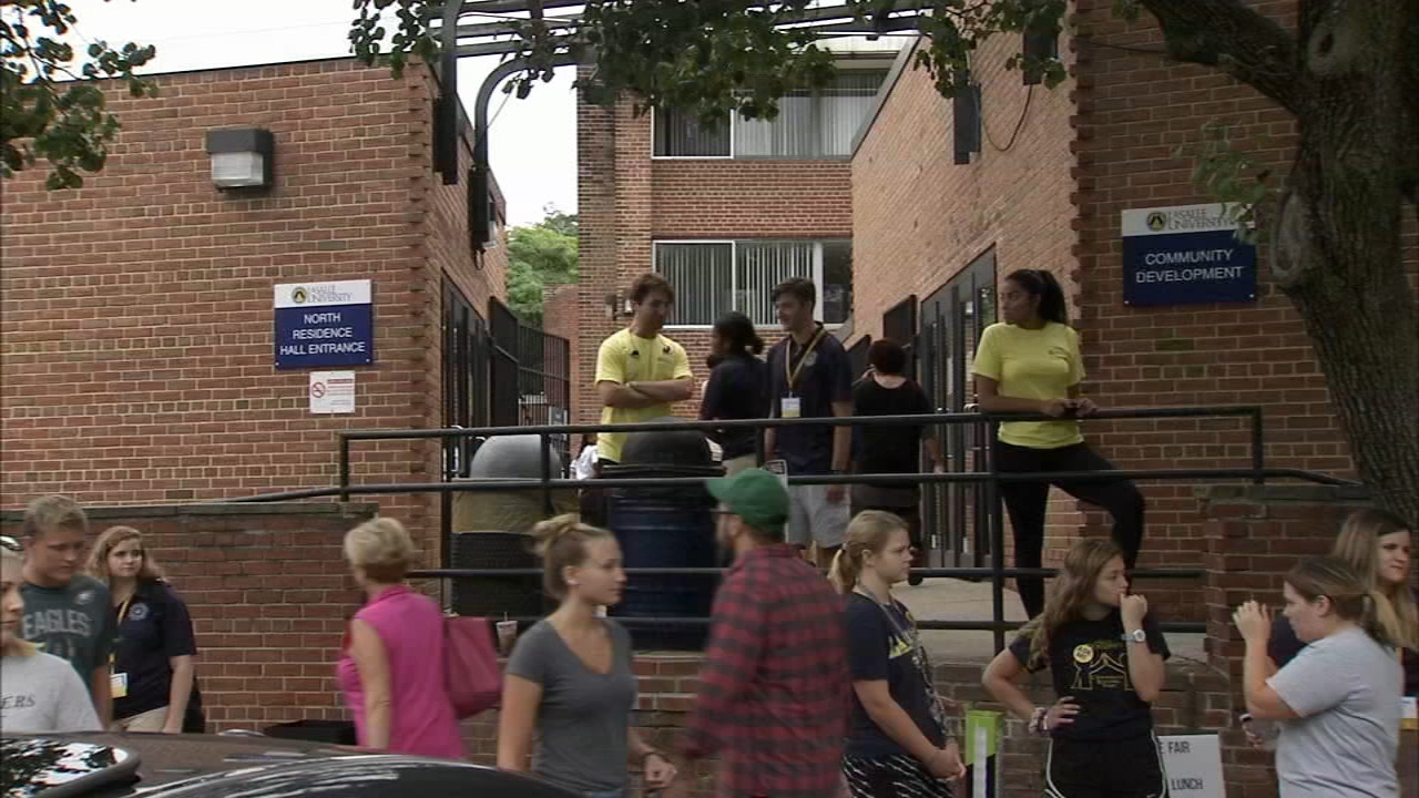 Move-in day for LaSalle University students. Jeannette Reyes reports during Action News at 12:30 p.m. on August 21, 2018.