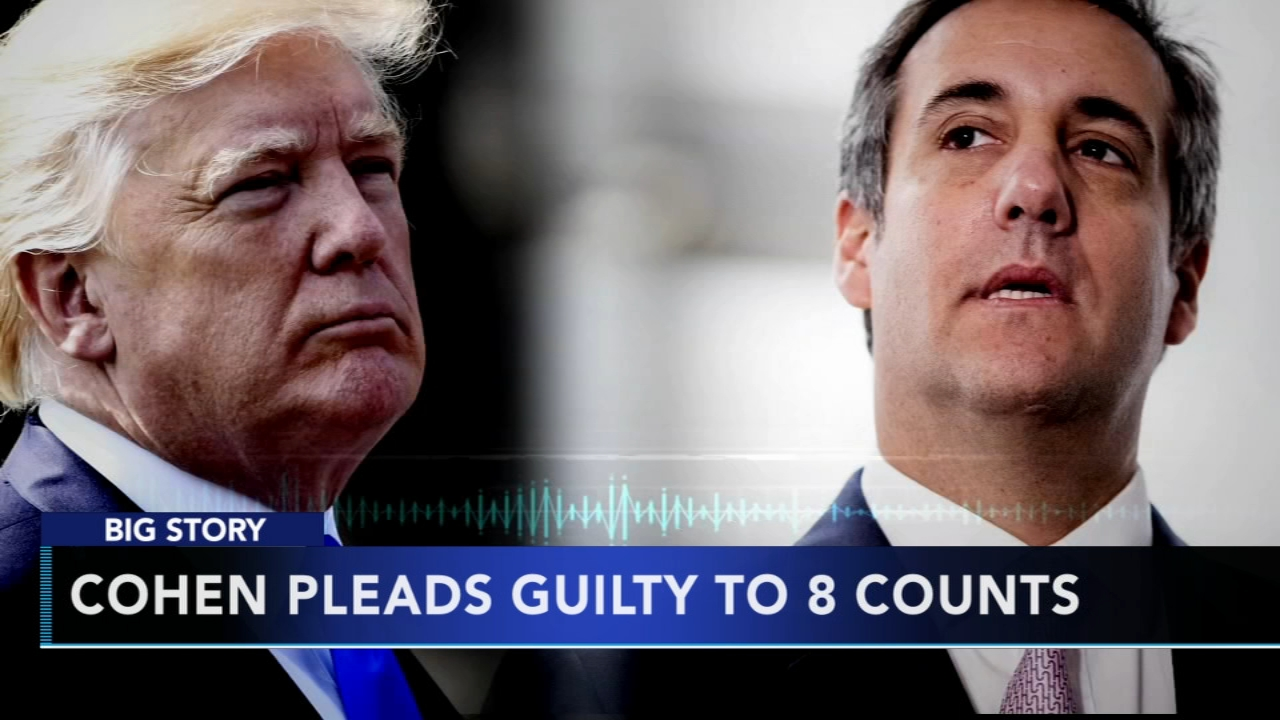 Trumps ex-personal attorney Michael Cohen pleads guilty in hush-money scheme as reported during Action News at 10 on August 21, 2018.
