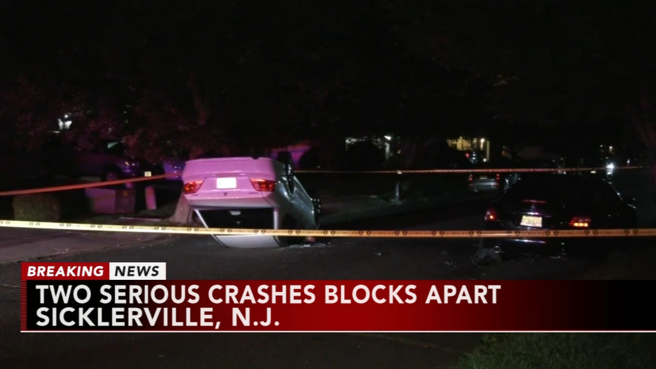 2 crashes blocks apart in Sicklerville, N.J. Katherine Scott reports during Action News Mornings on August 21, 2018.
