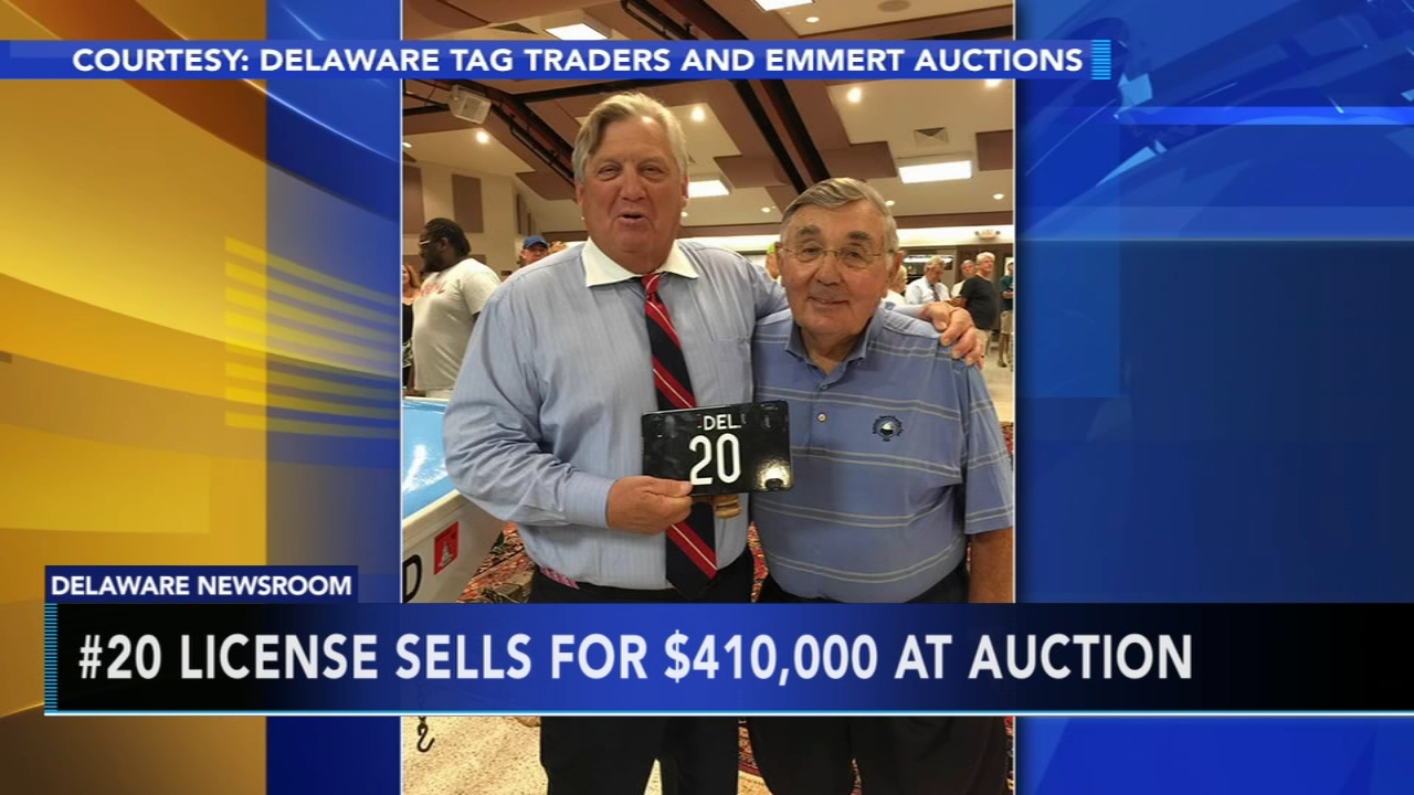 Delaware license plate auctioned for $410K. Tamala Edwards reports during ActionNews Mornings on August 21, 2018.