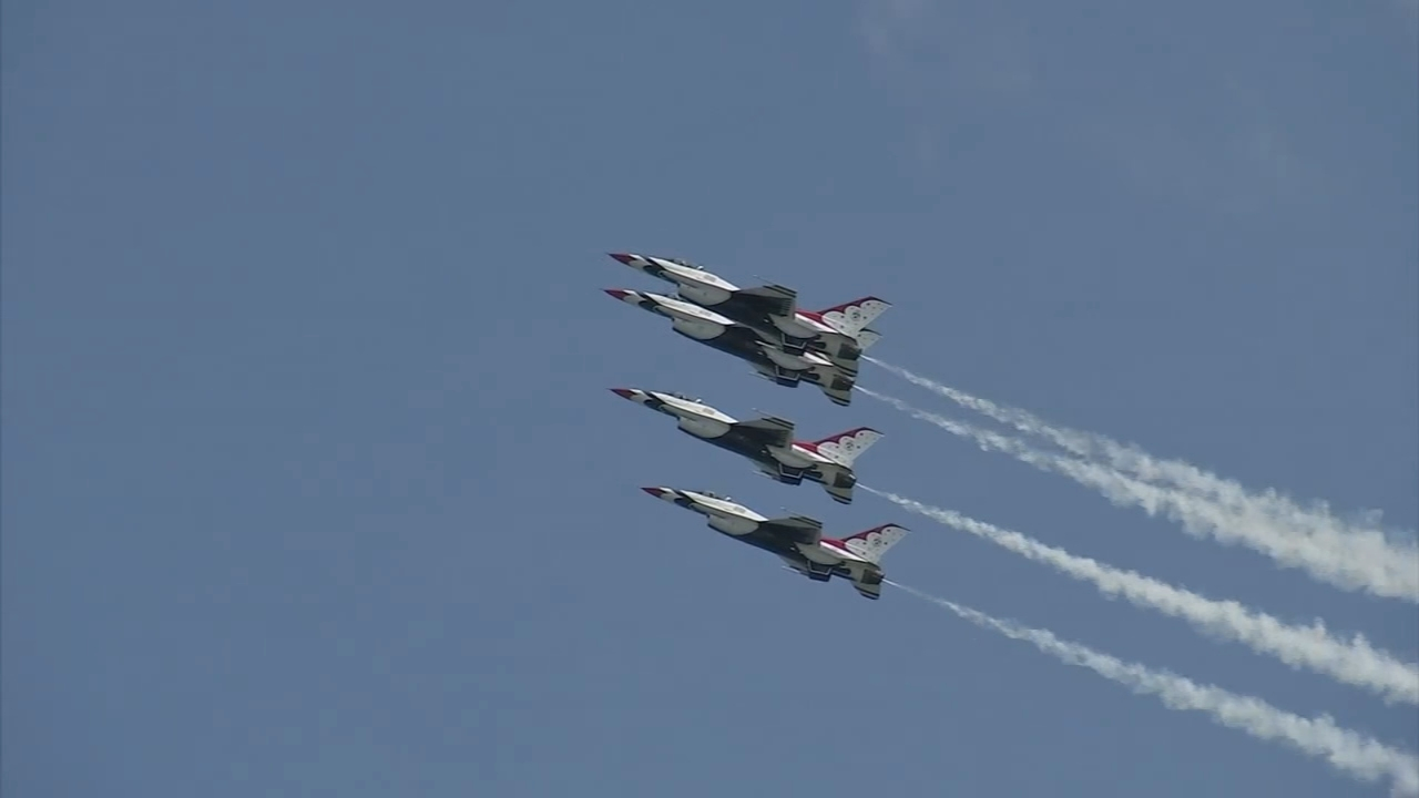 Great weather, big thrills for 2018 Atlantic City airshow. Gray Hall reports during Action News at 4pm on August 22, 2018.