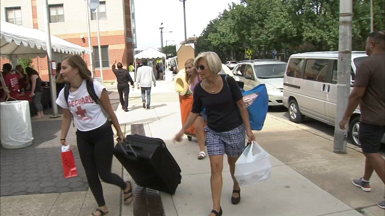 Move-in day for Temple and Penn students. Vernon Odom reports during Action News at 5 p.m. on August 22, 2018.