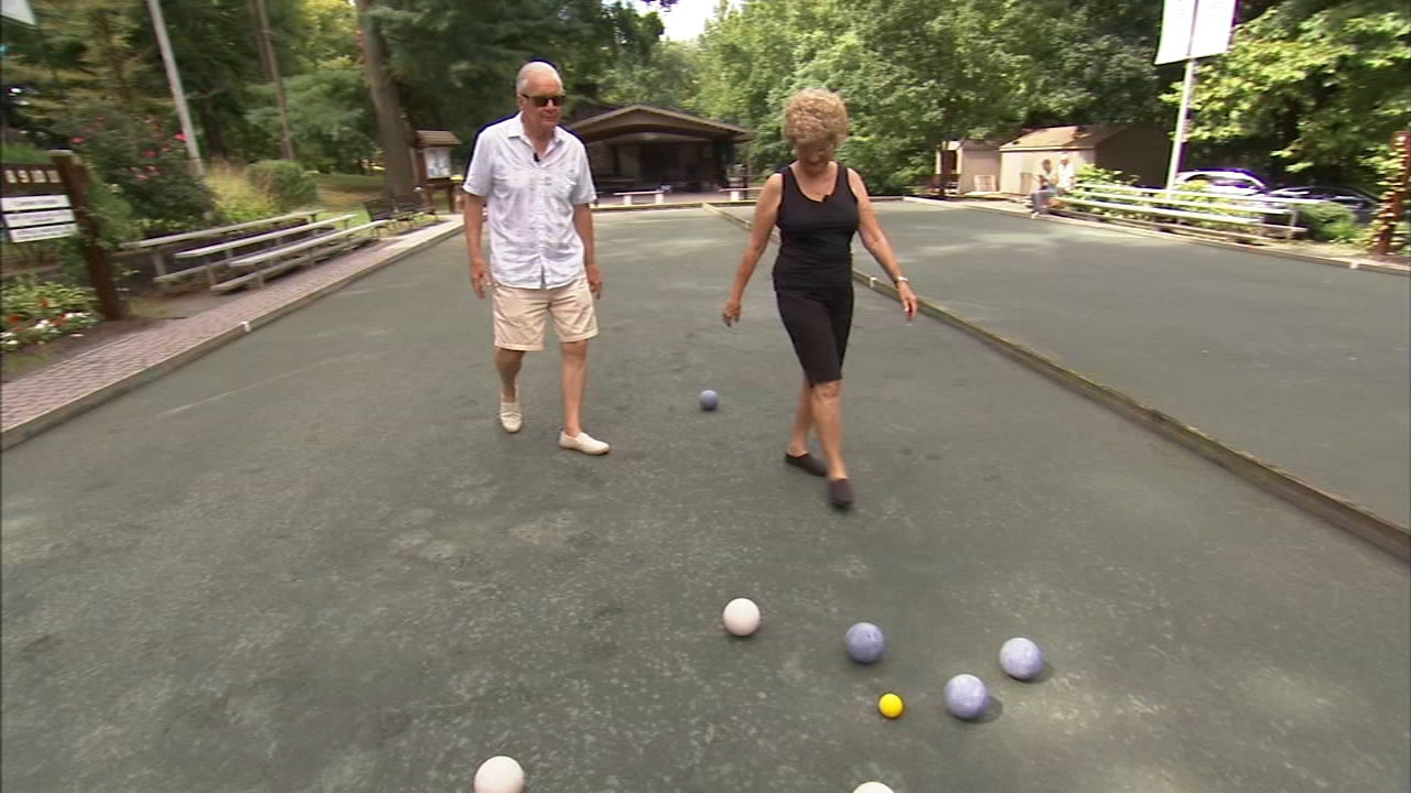 Art of Aging: Seniors compete in playing bocce ball. Tamala Edwards reports during Action News at 12 p.m. on August 23, 2018.