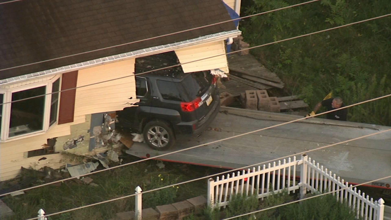 SUV crashes into home in Burlington County; driver tested for DUI. Rcik Williams reports during Action News at 4 p.m. on August 23, 2018.