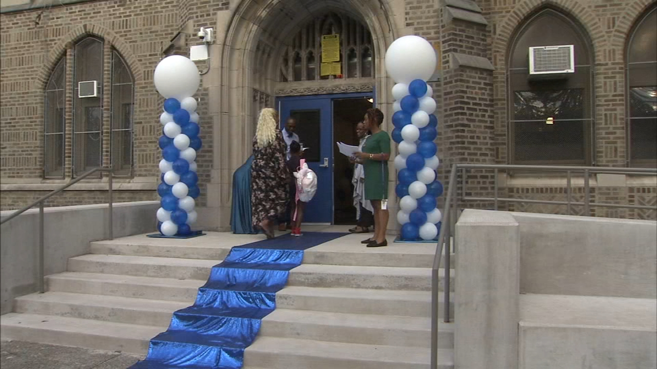 Students return to newly renovated school in North Philadelphia. Jeannette Reyes reports during Action News at 6 p.m. on August 23, 2018.