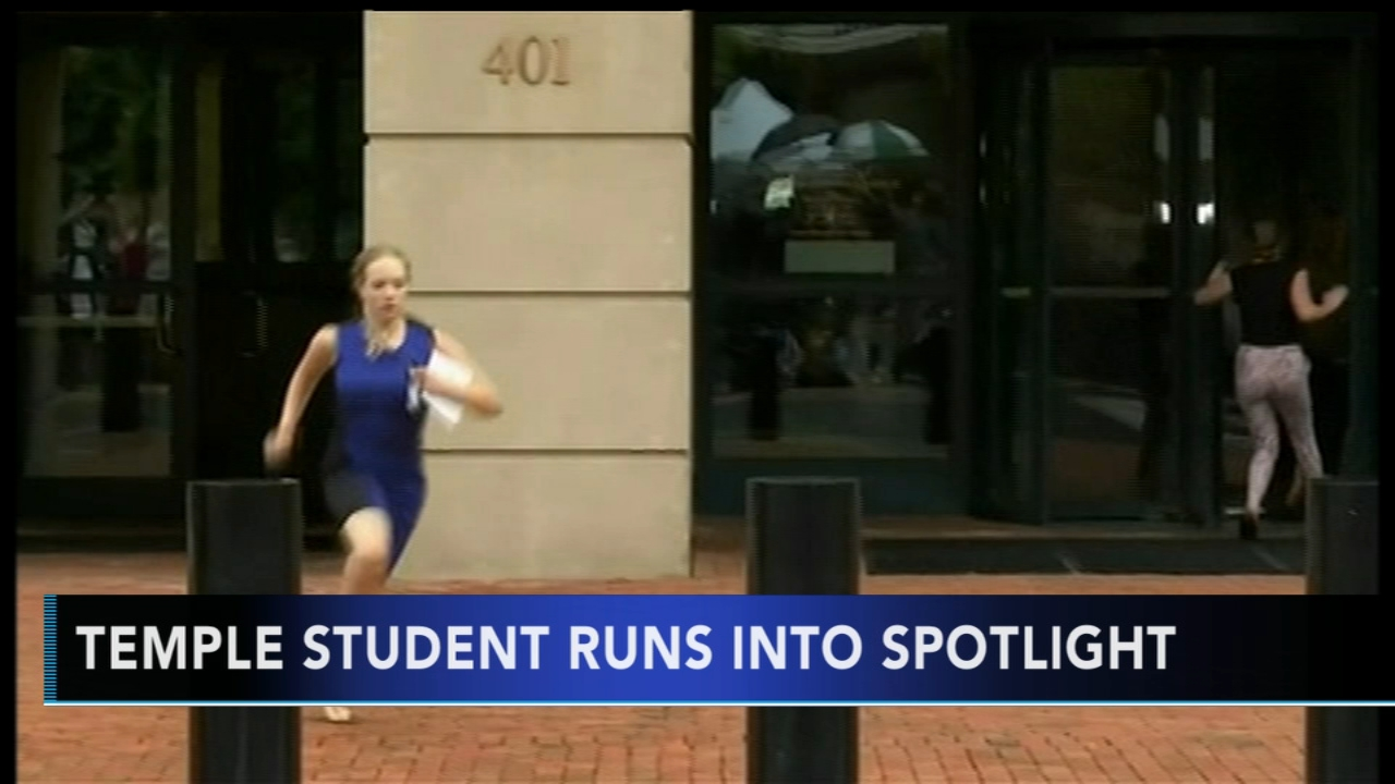 Temple student runs into spotlight. Tamala Edwards reports during Action News Mornings on August 23, 2018.