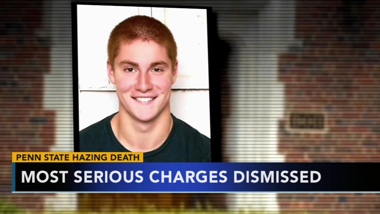 Most serious charges dismissed in Penn State frat death. Jim Gardner reports during Action News at 11 p.m. on August 24, 2018.