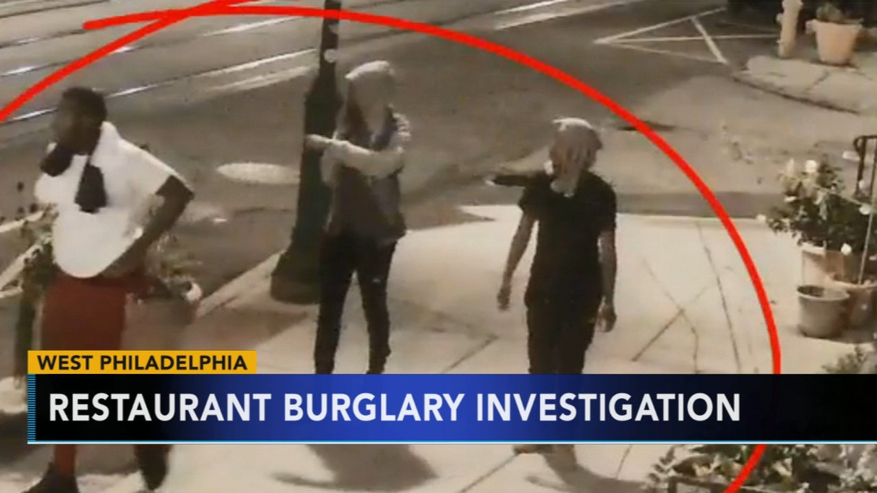 Suspects sought in West Philadelphia restaurant burglary. Rick Williams reports during Action News at 12:30 p.m. on August 24, 2018.