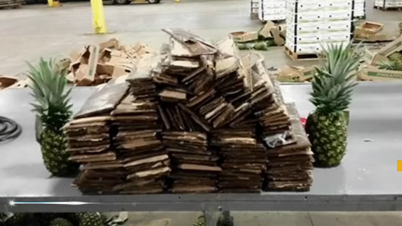 Authorities seize cocaine found hidden in boxes of pineapples at Port of Wilmington. Gray Hall reports during Action News at 6 a.m. on August 25, 2018.