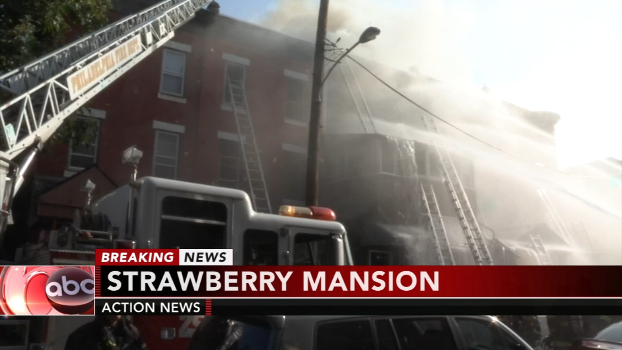 Firefighter injured battling 2-alarm fire in Strawberry Mansion. Christie Ileto reports during Action News at 10 a.m. on August 26, 2018.