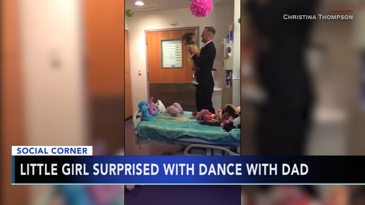 Dad and daughter share special dance in hospital room. Christie Ileto reports during Action News at 10 a.m. on August 26, 2018.