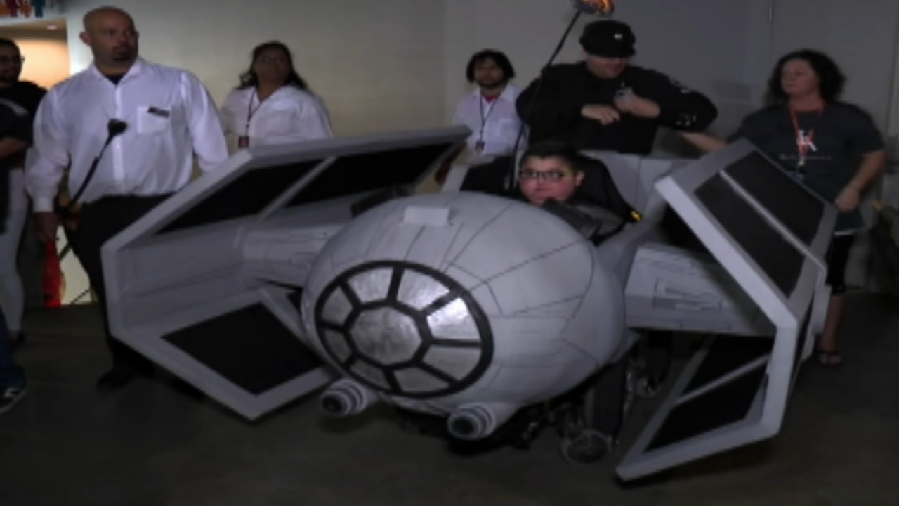 12-year-old boy gets around with help of special Star Wars wheelchair