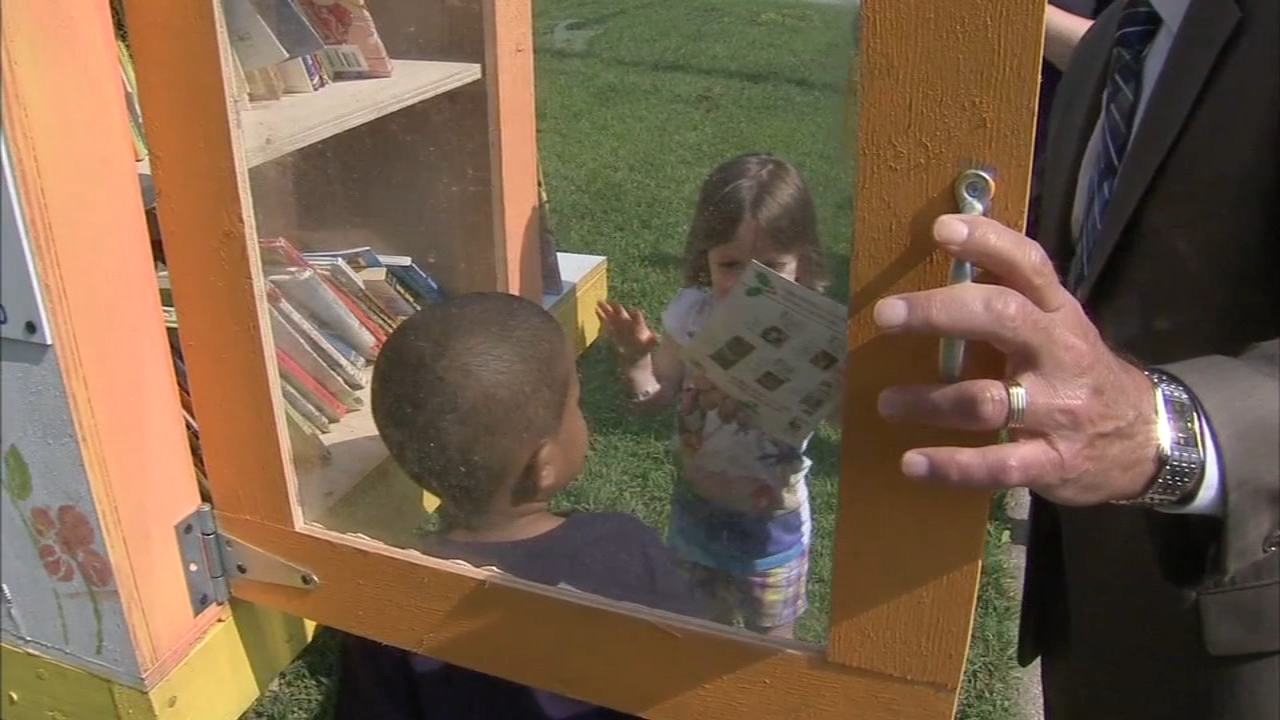 A Little Free Library box was donated to the J. Harvey Rodgers School in Glassboro as reported during Action News at 4 on August 27, 2018.