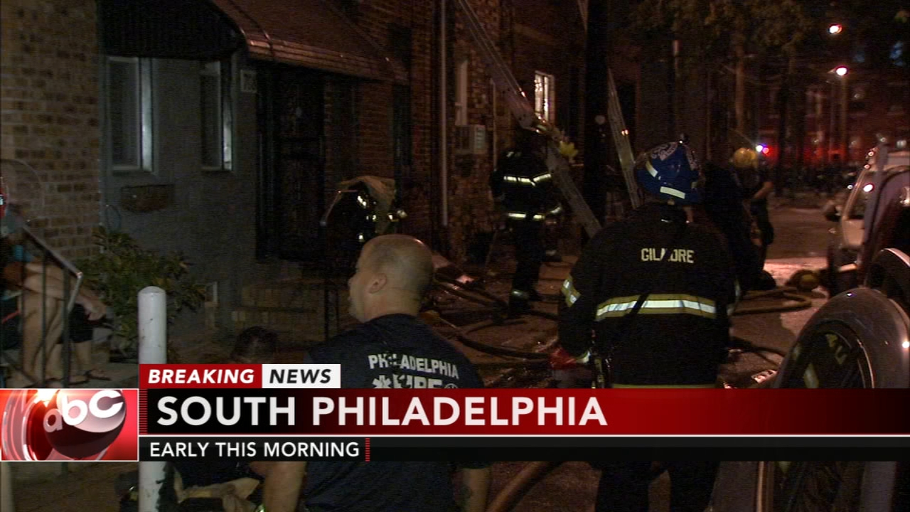 Firefighters battle house fire in South Philadelphia. Jeannette Reyes reports during Action News at 5 a.m. on August 27, 2018.