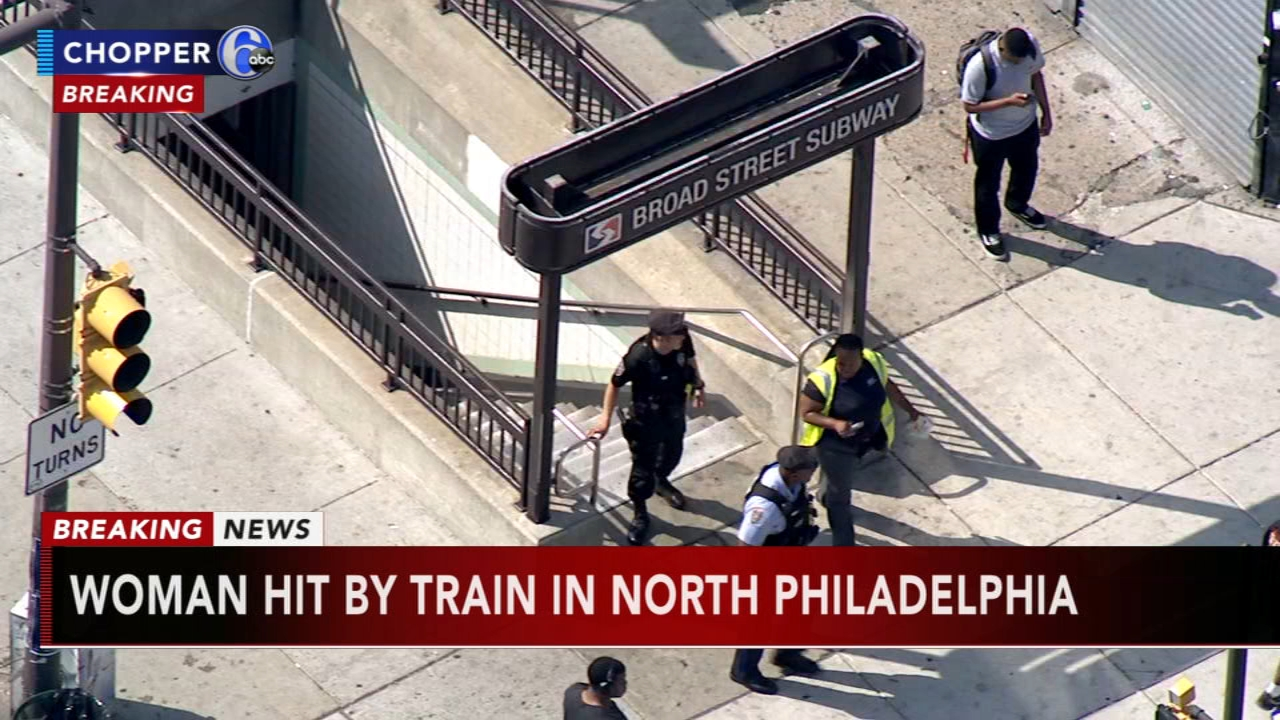 Woman struck, killed by train on Broad Street Line. Watch this report from Action News at 4pm on August 28, 2018.