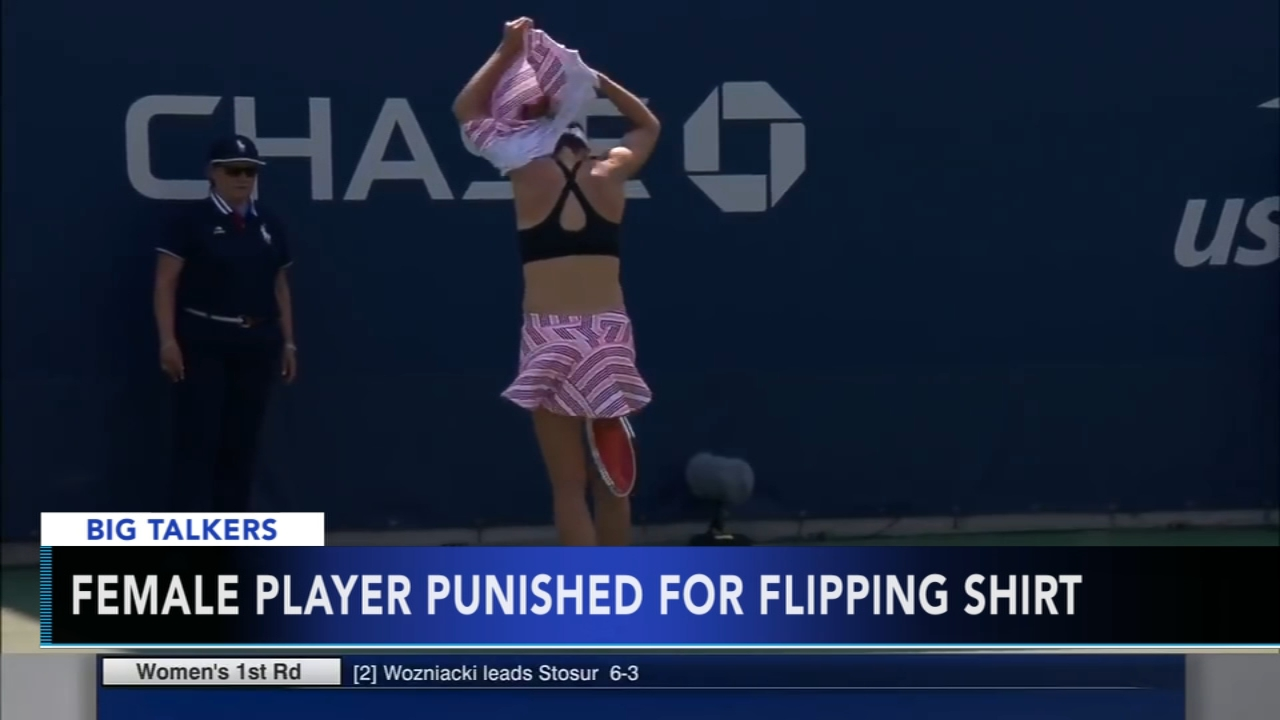 US Open clarifies changing shirt rule after Cornet penalty: Alicia Vitarelli reports during Action News at 4:30pm on August 29, 2018.