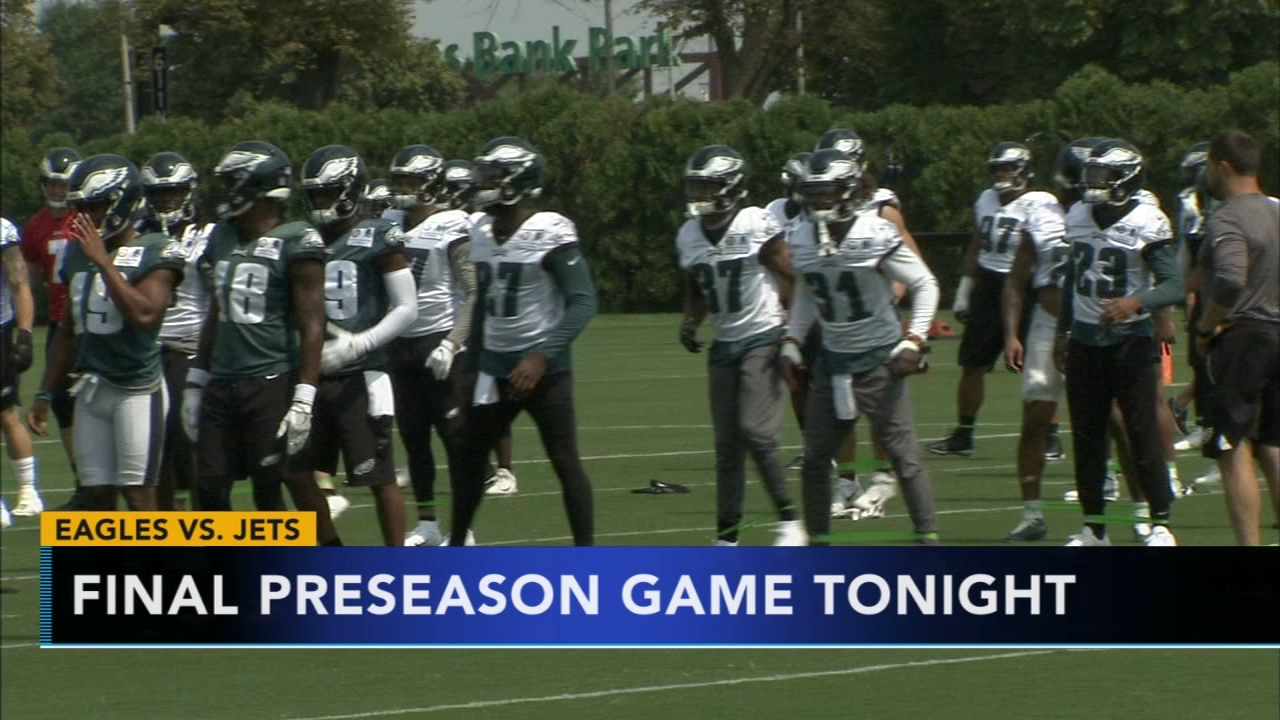 Eagles prepare to face Jets in last preseason game. Matt ODonnell reports during Action News at 4:30 a.m. on August 30, 2018.