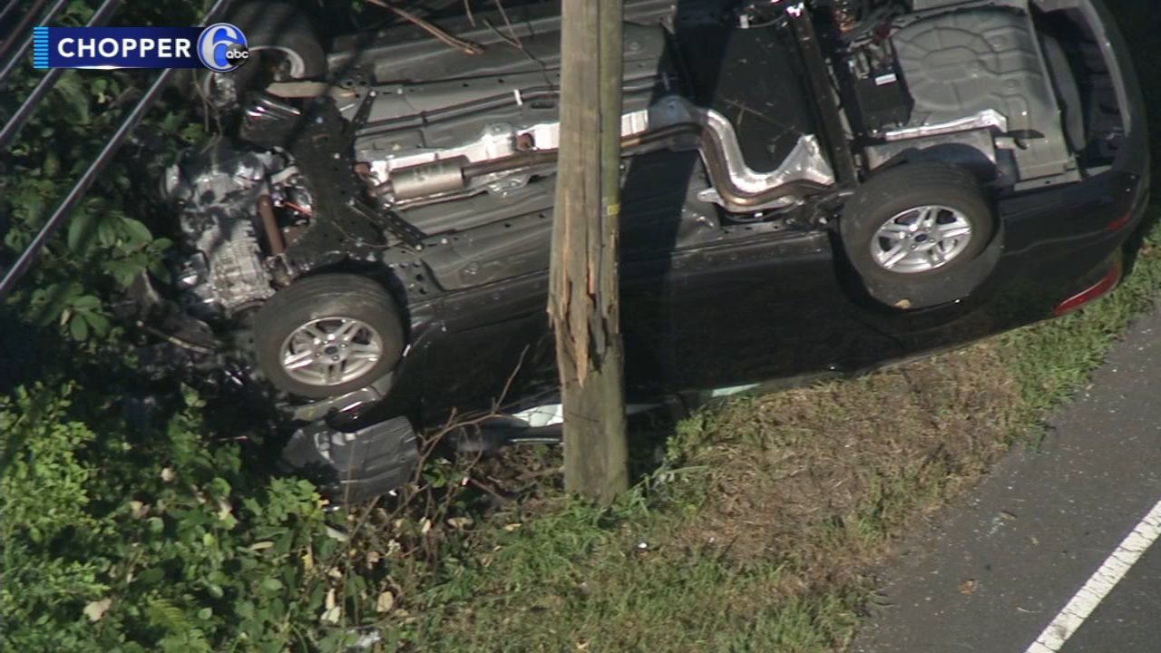 Police: Driver loses control, crashes in Burlington County. Rick Williams reports during Action News at 12:30 p.m. on August 30, 2018.