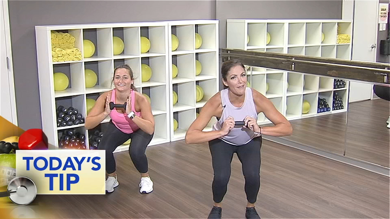 Feeling that lower body burn with a fun combo move - Todays Fitness Tip