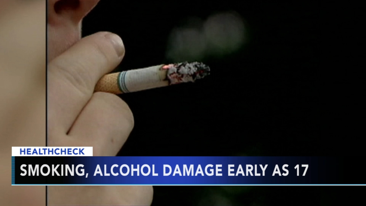 Teens who smoke, drink are causing arteries to harden as early as 17 - Ali Gorman reports during Action News at 5pm on August 30, 2018.