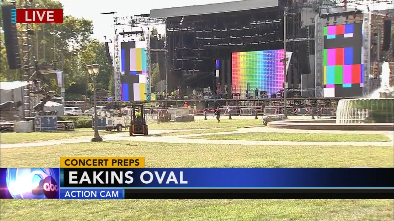 Parkway prepares for Made in America. Maggie Kent reports during Action News at 4pm on August 30, 2018.