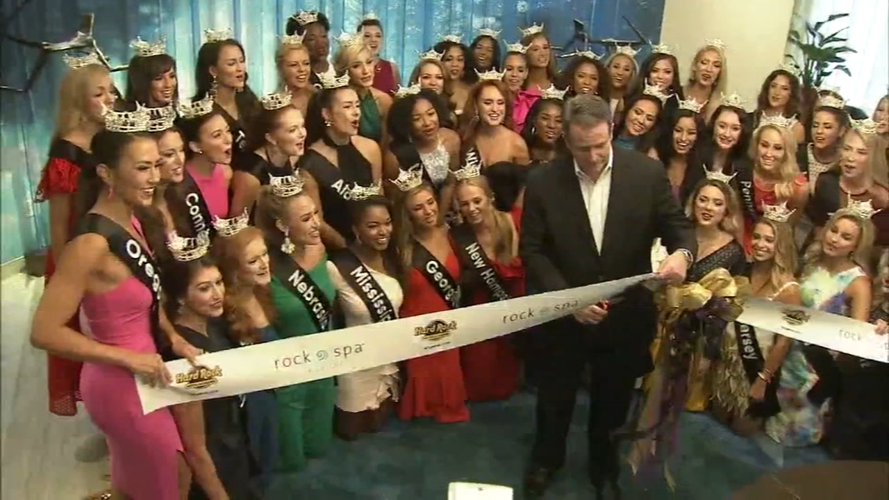 The official arrival of the 51 hopefuls vying for the title of Miss America as reported by Dann Cuellar during Action News at 10 on August 30, 2018.