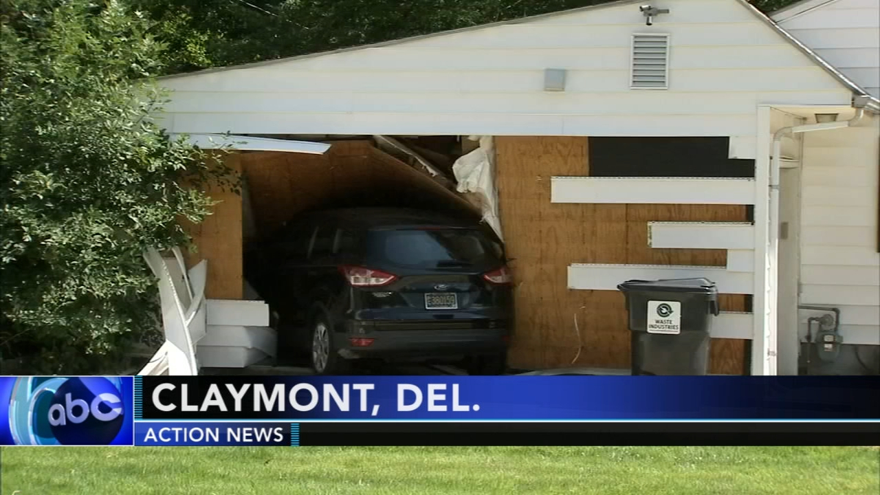 Driver crashes vehicle into home in Claymont. Sharrie Williams reports during Action News at 4:30 p.m. on August 20, 2018.