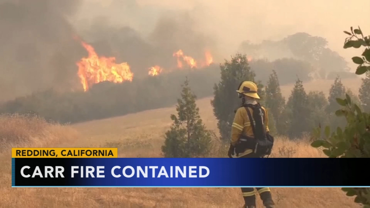 Firefighters declare massive Carr Fire fully contained. Nydia Han reports during Action News at 5 a.m. on August 31, 2018.