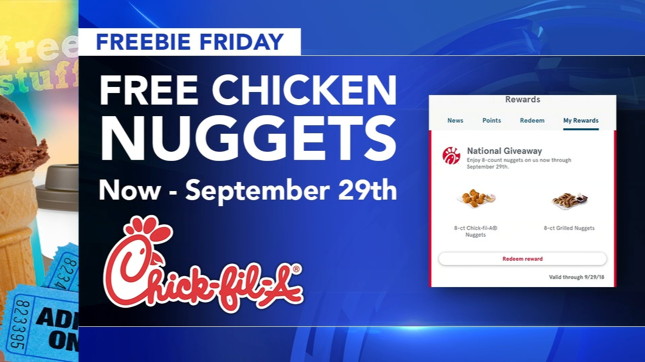 Here are your freebies being offered this Friday! Brian Taff and Sharrie Williams report during Action News at 4:30pm on August 31, 2018.