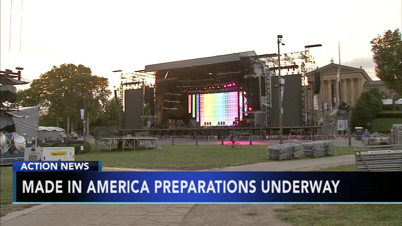 Made in America begins to take over the Ben Franklin Parkway. Nydia Han reports during Action News at 4:30 a.m. on August 31, 2018.