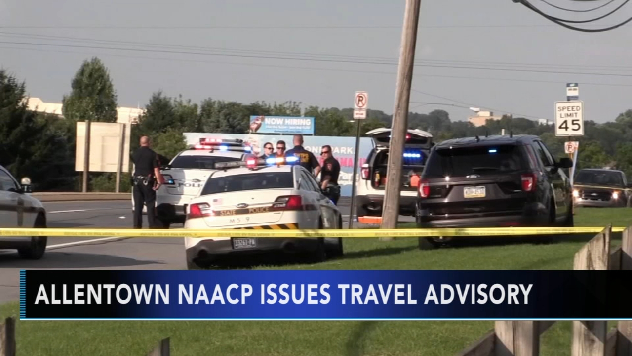 NAACP issues travel advisory after deadly police shooting near Dorney Park. Gray Hall reports during Action News at 5 a.m. on August 31, 2018.