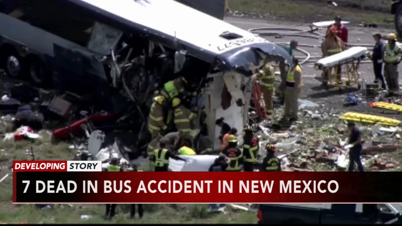 At least 7 killed in head-on bus crash in New Mexico. Nydia Han reports during Action News at 5 a.m. on August 31, 2018.