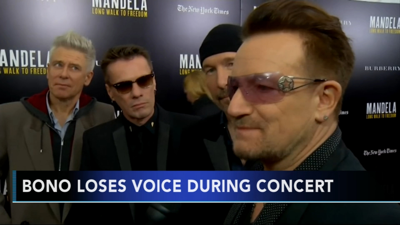 U2 cancels show after Bono loses voice on stage. Gray Hall reports during Action News at 6 a.m. on September 2, 2018.