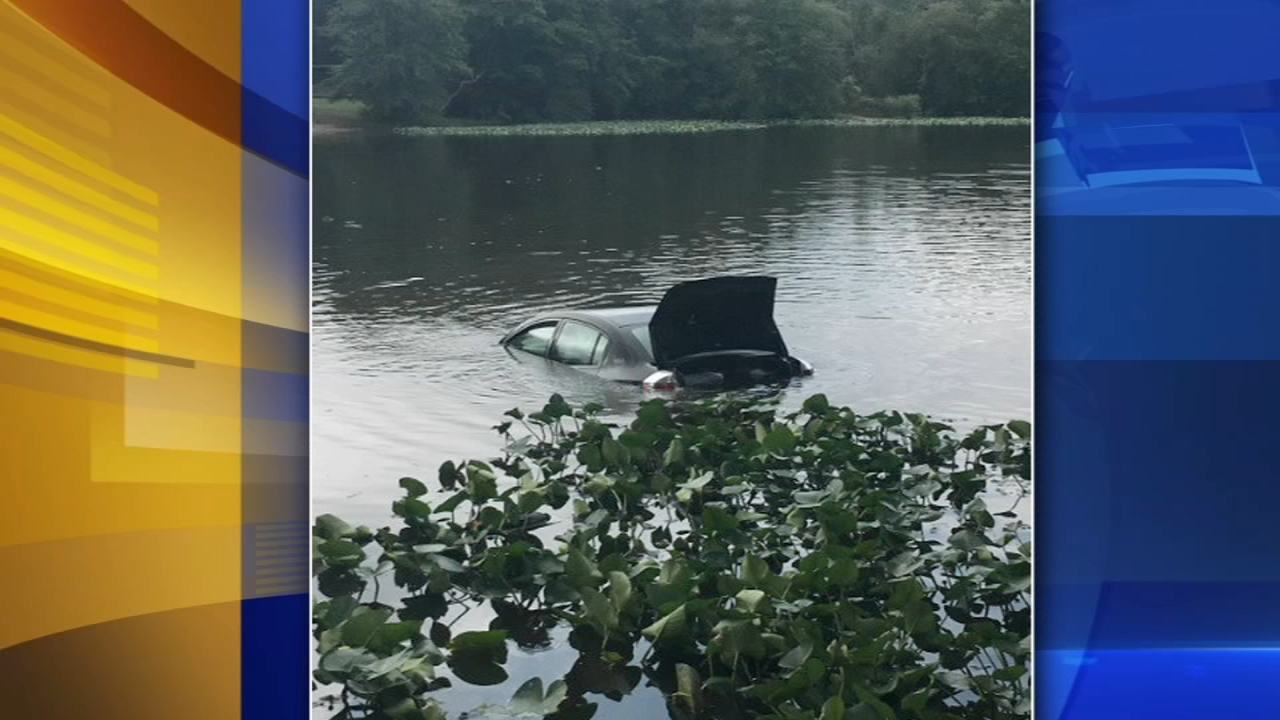 Car lands in pond after driver misses turn in Newark, Del. Watch this report from Action News at 5pm on September 2, 2018.